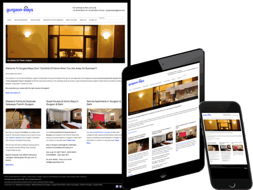 Gurgaon Stays - Booking Agent Website Design