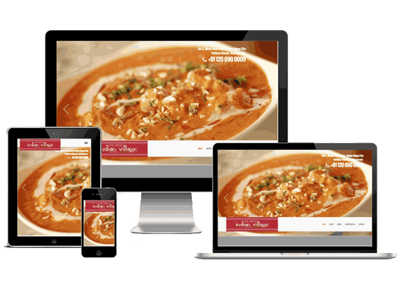 The Great Indian Village Restaurant Indirapuram Website Design