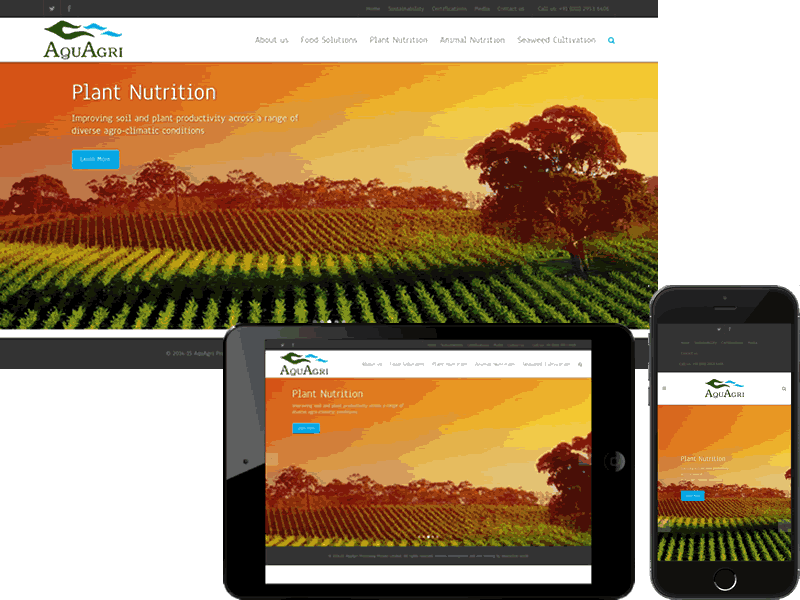 Aquagri Website Design - B2B Product Website Design