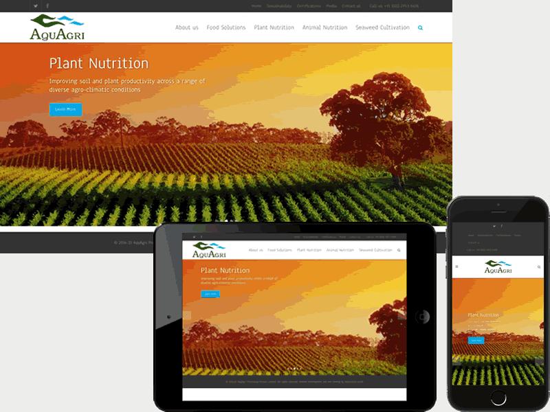 Aquagri Website Design - B2B Product Website Design