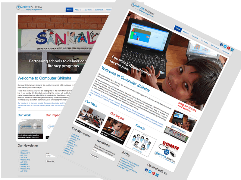 Computer Shiksha Non Profit Website Design