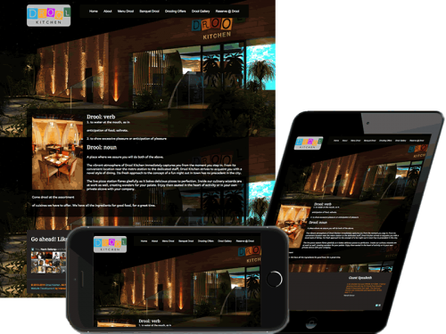 Drool Kitchen, Dwarka, Restaurant Website Design