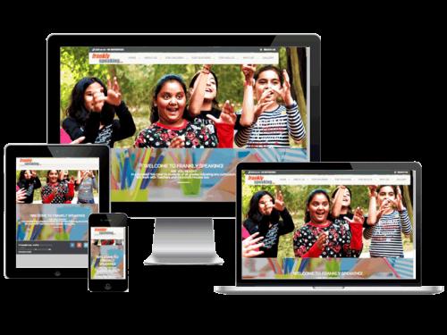 Frankly Speaking Learning Center Gurgaon Education Website Design