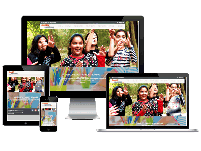 Frankly Speaking Learning Center Gurgaon Education Website Design