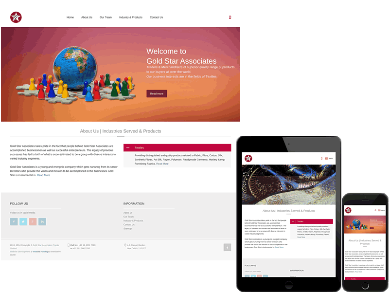 Gold Star Associates New York Website Design