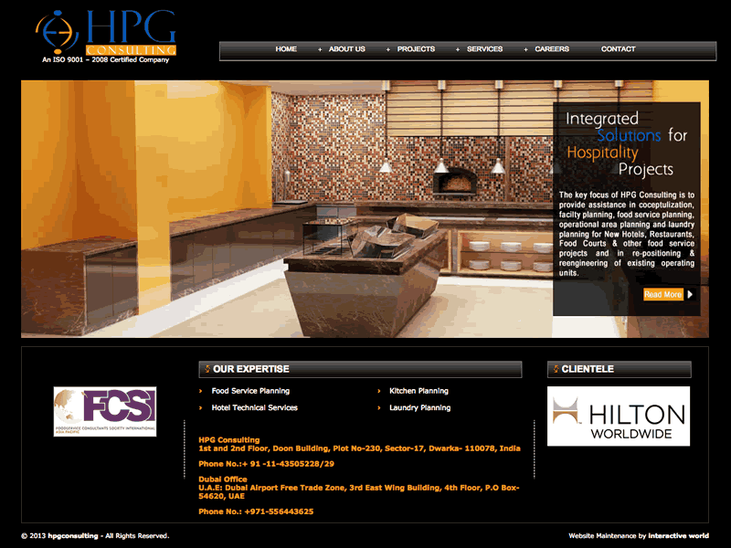 HPG Consulting B2B Website Design