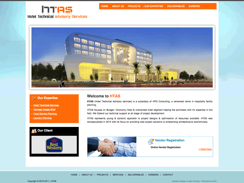 HTAS Consulting Website Design