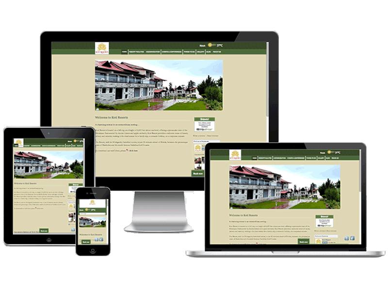 Koti Resorts Hotel Website Design, Online Marketing, Hotel Web Design