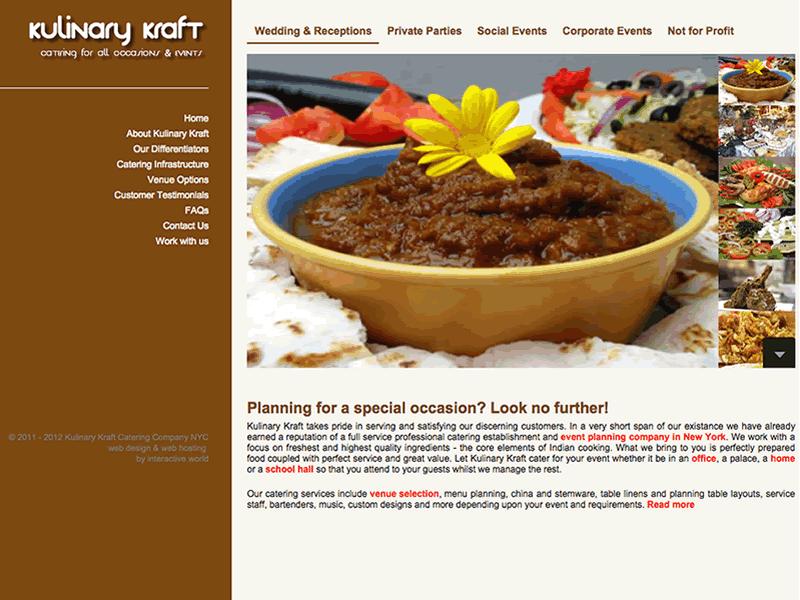 Kulinary Kraft New York Website Design