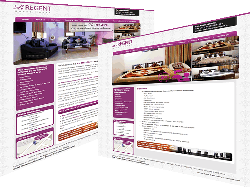 Le Regent Gurgaon Guest House Website Design