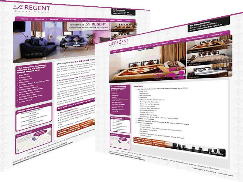 Le Regent Gurgaon Guest House Website Design