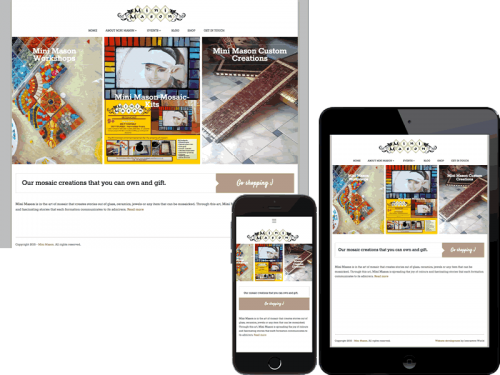 Mini Mason Artists Website Design Gurgaon