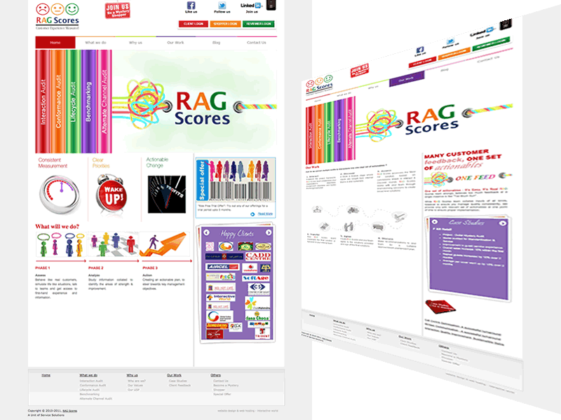 RAG Scores Consulting Website Design