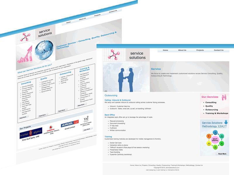 Service Solutions B2B Consulting, Delhi Website Design