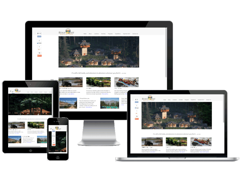 Stayout Adventure Travel Website Design | Small Business Website Design, WordPress Development, Travel Website Designing