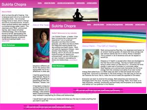 Sukirta Chopra Reiki Master Gurgaon Website Design