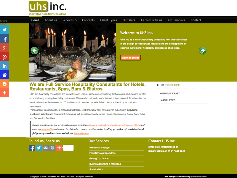 UHS Inc New York Consulting Website Design