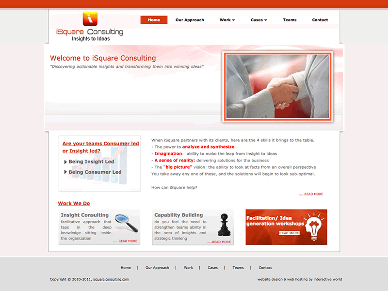 iSquare Consulting Singapore Website Design