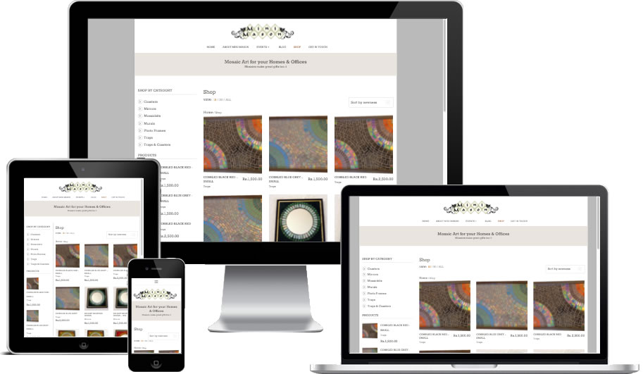 Mini Mason Responsive - Ecommerce Website Development