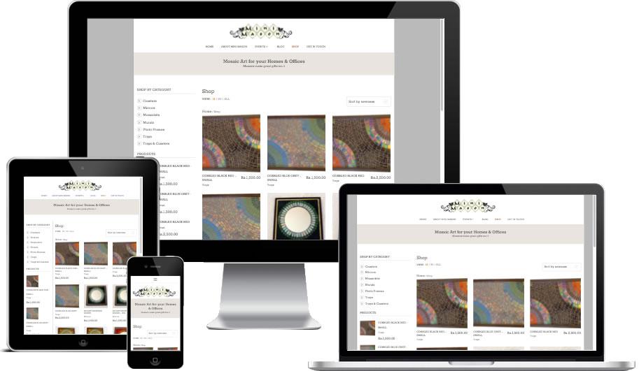 Mini Mason Responsive - Ecommerce Website Development