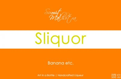 Sliquor Lable Print Design - Liqueur Label Design
