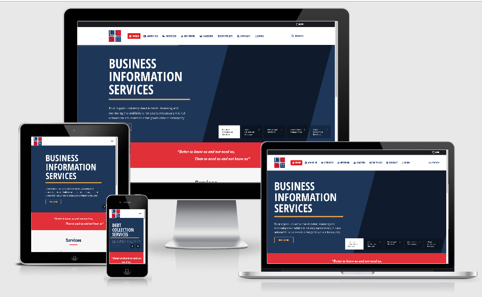 B2B Collections Company Website Design Work for UCS Group